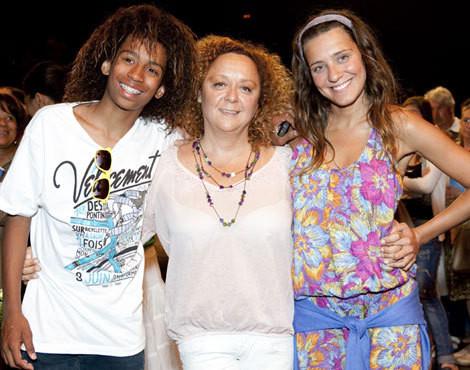 Alexandra Solnado com os filhos, Gabriel e Joana
