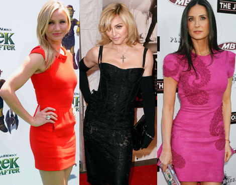 Cameron Diaz, Madonna e Demi Moore