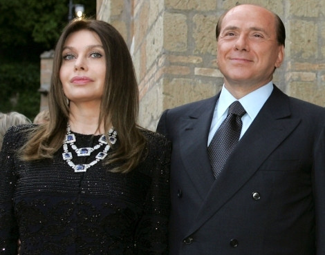 Verónica Lário e  Sílvio Berlusconi