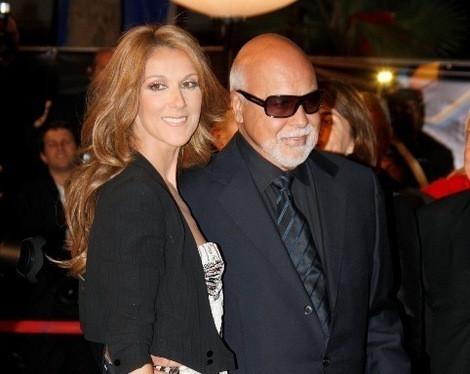 Céline Dion com o marido, René Angélil