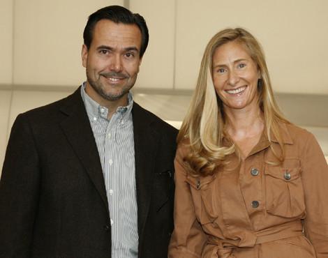 António Horta Osório com a mulher, Ana, na última edição do Estoril Open