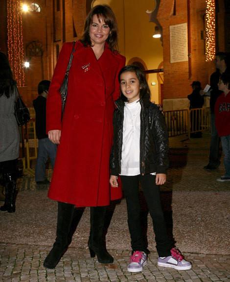 Raquel Cruz com a filha, Mariana