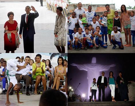 Família Obama no Brasil