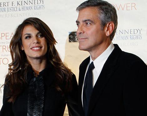 Elisabetta Canalis e George Clooney