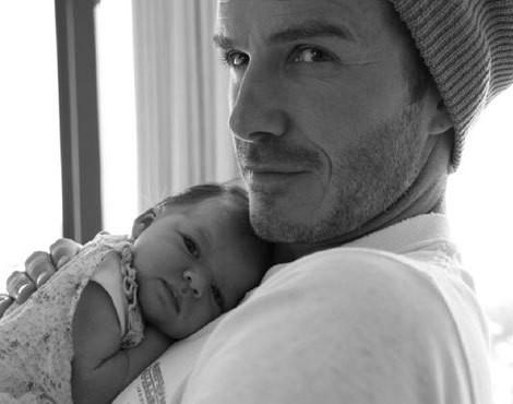 David Beckham com a filha, Harper Seven