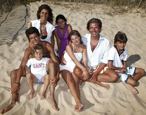 Bibá Pitta e Fernando Gouveia com os filhos
