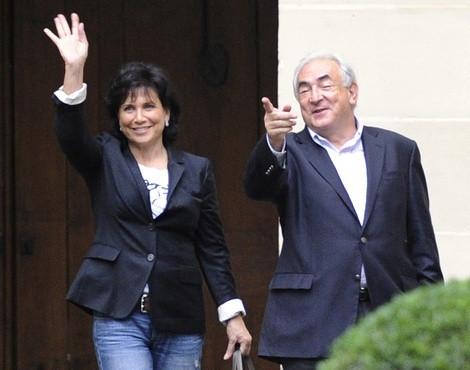 Dominique Strauss-Kahn com a mulher, Anne Sinclair