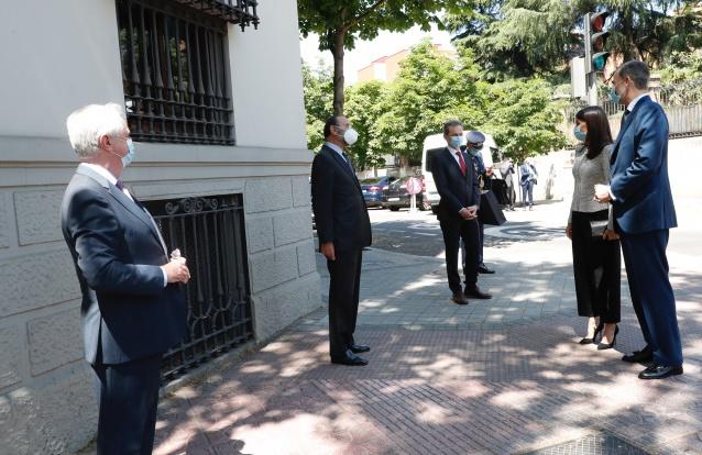 Felipe e Letizia marcam presença em reunião importante